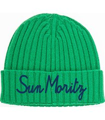 cashmere blend embroidered hat st. moritz