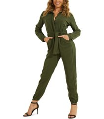 guess tie-belt jumpsuit