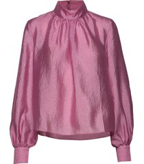 eddy, 784 textured poly blouse lange mouwen roze stine goya