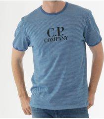 c.p company jersey 24/1 stripe t-shirt - moroccan blue ts226a005436p849