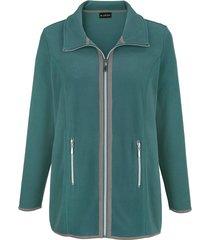 fleece vest m. collection groen::grijs