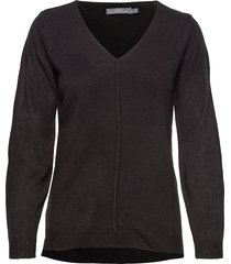 bymalea v neck jumper - stickad tröja svart b.young