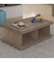 mesa de centro dunas 2 nichos canela - artely