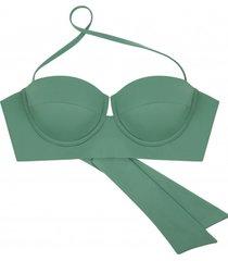bikini góra chaka sage green