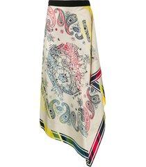 golden goose kaylee bandana-print silk skirt - neutrals