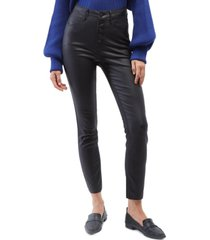 oat coated high-rise skinny ankle jeans