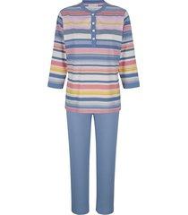 pyjama mona blauw::zalm::ecru