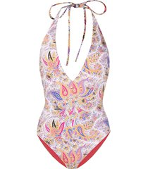 etro reversible paisley swimsuit - neutrals
