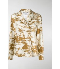 max mara abstract print shirt blazer