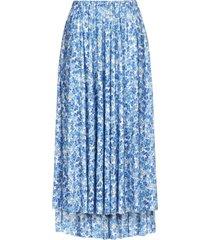 vetements floral print midi skirt