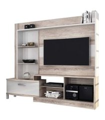 home theater para tv ds móveis new lavínia bege/branco