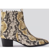 na-kd shoes low western boots - multicolor