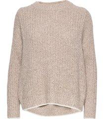 ls mock neck optic sweater gebreide trui bruin calvin klein