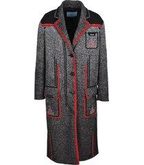 prada prada technical mouliné jacquard coat