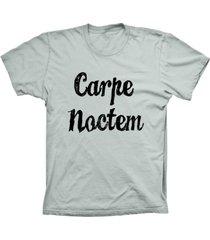 camiseta baby look lu geek carpe noctem prata - prata - feminino - dafiti