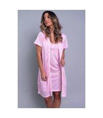 camisola com robe bella fiore modas malha lisa cíntia rosa