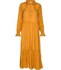 kathea midi dress knälång klänning gul kaffe