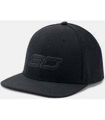 gorra negra under armour sc30 core hombre negro