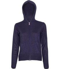 sweater full cierre azul marino kotting