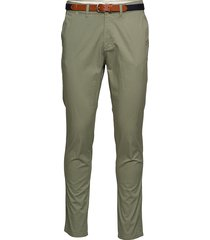 slhslim-yard pants w noos chinos byxor grön selected homme
