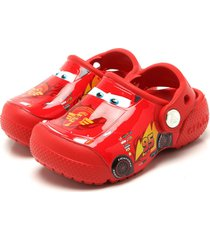babuche crocs fun lab cars clog k vermelha