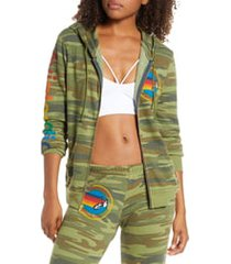 women's aviator nation zip hoodie