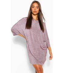 oversized batwing shift dress, pink