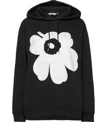 runoja unikko shirt hoodie trui zwart marimekko