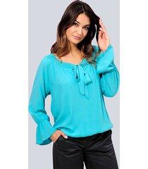 blouse alba moda smaragdgroen