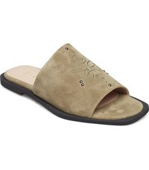 marcy s shoes mules & slip-ins flat sandals beige shoe the bear