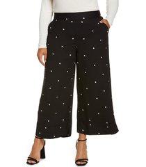 plus size women's halogen soft crop flare pants, size 3x - black