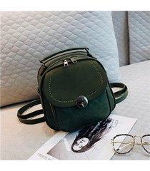 mochilas/ vintage pu leather mochila mujeres bolsa-verde