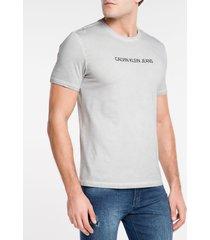 camiseta masculina básica estonada cinza claro calvin klein jeans - pp