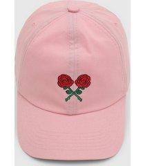 boné kanui dad cap double roses rosa - kanui