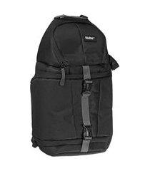 mochila vivitar sling backpack para câmera dslr, lente e acessórios preto