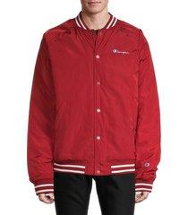 champion men's logo bomber jacket - scarlet - size xxl