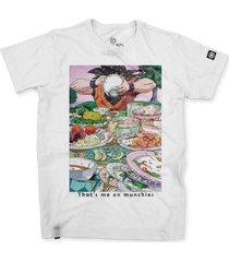 camiseta masculina stoned larica branco