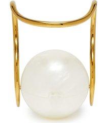 'pearl' acrylic sphere clutch
