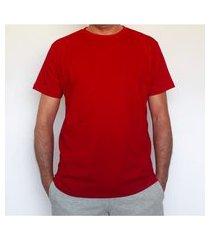 camiseta básica algodão vermelha t-shirt mescla respirável e funcional