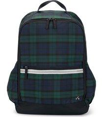 familiar plaid backpack - blue