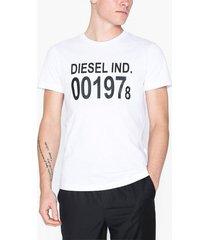 diesel t-diego-001978 t-shirt t-shirts & linnen vit