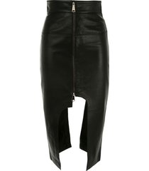 boyarovskaya fitted asymmetric skirt - black