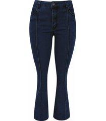 calça pau a pique flare jeans claro