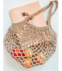torba paryżanka ze sznurka beżowa