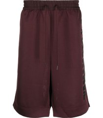 y-3 mesh track shorts - red