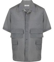 givenchy multi-pocket shirt - grey