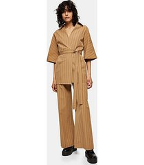 *camel pinstripe trousers by topshop boutique - camel