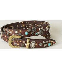 sundance catalog women's multistuds belt in brown large