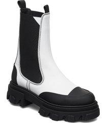 calf leather shoes chelsea boots vit ganni