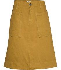 skirt knälång kjol gul noa noa